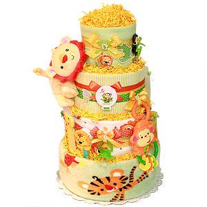 Rainforest Diaper Cake