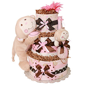 Little Cutie Monkey Diaper Cake