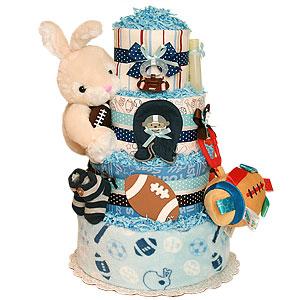Football Bunny Sport Diaper Cake