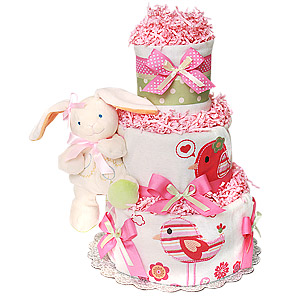 Organic Bunny Diaper Cake