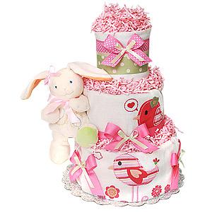 Organic Bunny Diaper Cake