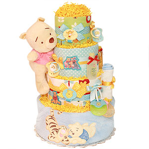 Silly Pooh Bear Diaper Cake