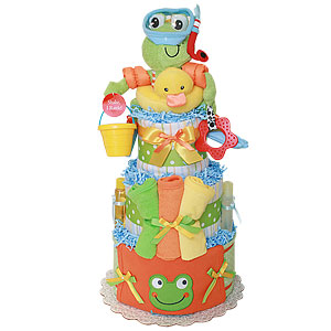 Fun Diving Frog Diaper Cake