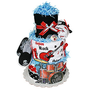 Rock Star Diaper Cake