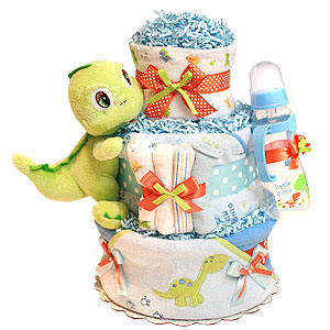 Little Dino Bath Dinosaur Diaper Cake