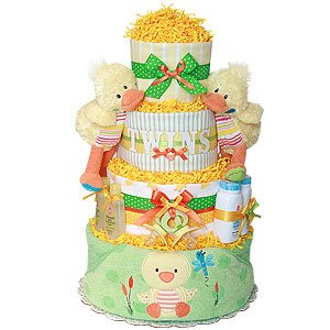 Twins Ducks Diaper Cake