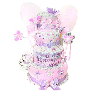 You Are Heaven Sent Butterfly Diaper Cake