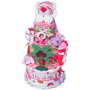 Queen of The Jungle Diaper Cake