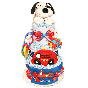 Hurry! Fireman Diaper Cake