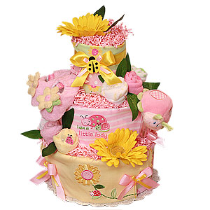 I am a Little Lady LadyBug Diaper Cake