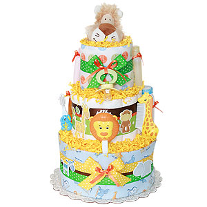 Hiding Lion Diaper Cake