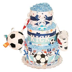 KICK Soccer Sport Diaper Cake