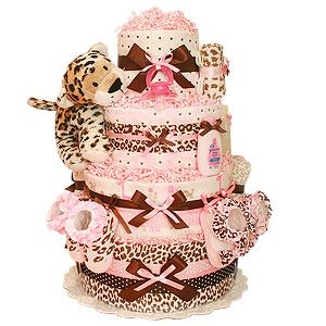 Lola Leopard Diaper Cake