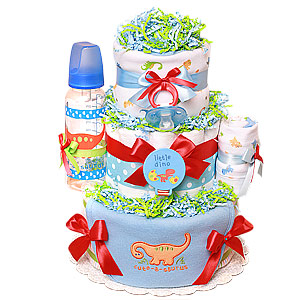 Little Cute-a-saurus Dinosaur Diaper Cake