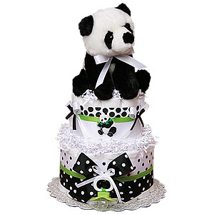 Little Panda Bear Diaper Cake