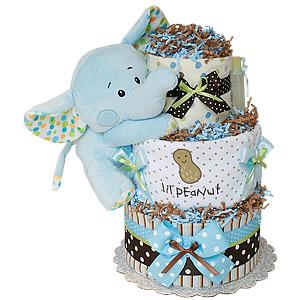 Lil Peanut Boy Diaper Cake