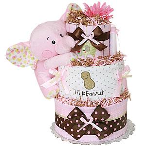Lil Peanut Girl Diaper Cake
