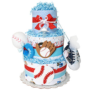Baseball Sport Diaper Cake for a Boy