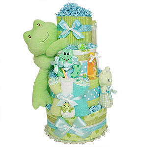 Little Frog Boy Diaper Cake