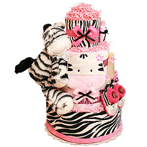 Joyful Little Zebra Diaper Cake