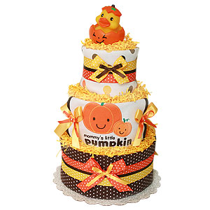 Mommy's Little Pumpkin Diaper Cake