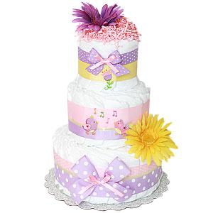 Birds Decoration Diaper Cake