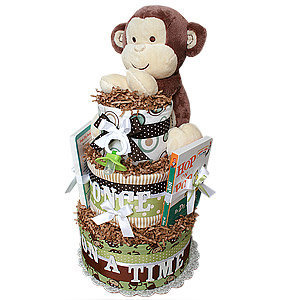 Once Upon A Time Monkey Diaper Cake