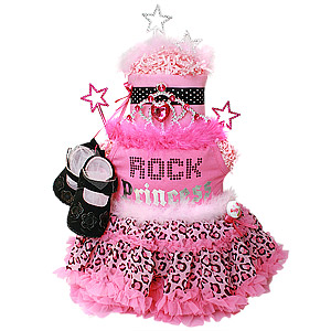 Rock Princess Diaper Cake