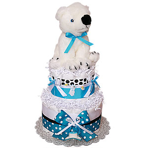 Little Polar Bear Diaper Cake