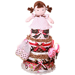 My First Sweet Doll Diaper Cake