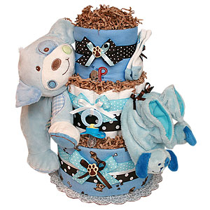 P is for Puppy Diaper Cake