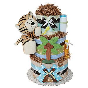 Jungle Tiger Diaper Cake