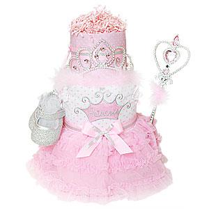 Perfect Princess Diaper Cake