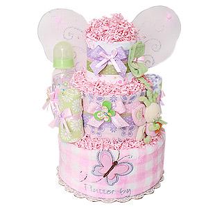 Little Cutie Lavender Butterfly Diaper Cake