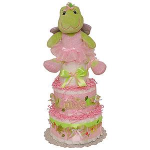 Ballerina Frog Diaper Cake