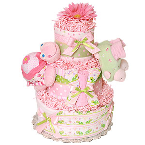 Girl Turtle Diaper Cake