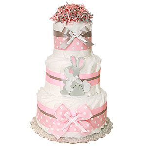 Bunny Decoration Diaper Cake