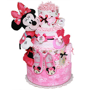 Cute Minnie Mouse Diaper Cake