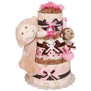 Little Cutie Monkey Diaper Cake