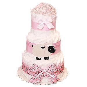 Pink Sheep Decoration Diaper Cake