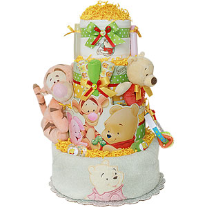 Winnie the Pooh and his Friends Diaper Cake