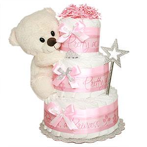 Pretty as a Princess Diaper Cake