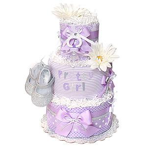 Pretty Girl Lavender Diaper Cake