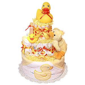 Quack! Rubber Duck Diaper Cake