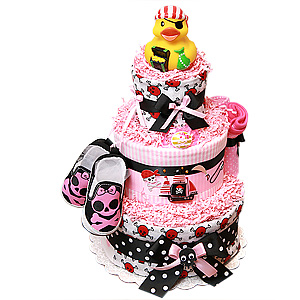 Pirate Diaper Cake for a Girl