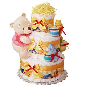 Simple Pooh Diaper Cake