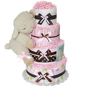 Sleeping Lamb Diaper Cake