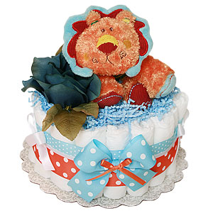 Little Orange Lion Diaper Cake