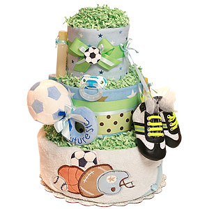 Future All Star Soccer Diaper Cake