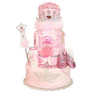 Sparkle Princess Diaper Cake